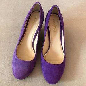 Purple Suede Cole Haan Heels